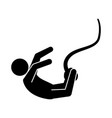 pictogram man practice bungee jumping vector image vector image