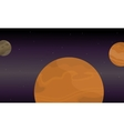 Planet space landscape of vector image vector image