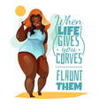 plus size woman poster vector image