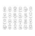 professions avatars medic teacher waiter vector image vector image