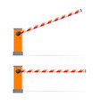 realistic detailed 3d barrier gate set vector image