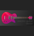 realistic gradient electric guitar isolated vector image