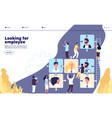 recruiting landing online recruitment and job vector image