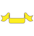 ribbon yellow sign 102 vector image vector image