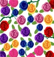 Rose flowers pattern background vector image vector image