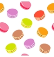 Seamless pattern with assorted colorful macarons vector image