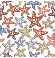 Seamless pattern with sea stars