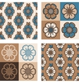 set fashion pattern with abstract flowers vector image