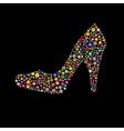 shoe shape vector image vector image