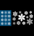 snowflake design for christmas and winter season vector image