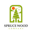 spruce logo design your company vector image vector image