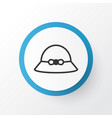 summer hat icon symbol premium quality isolated vector image