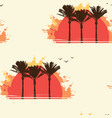 summer seamless pattern with sun palms and gulls vector image vector image