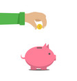 the man put money into a money box vector image vector image