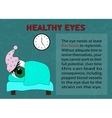 The need quality recreation for healthy eyes vector image