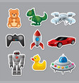 toys stickers for babies vector image