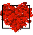 valentines love background with hearts vector image