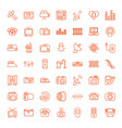 49 electronics icons vector image vector image