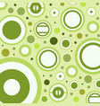 abstract background green circle vector image vector image