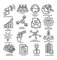 advertising and marketing line icons pack 2 vector image vector image