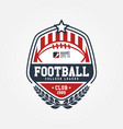 american football club logo sport design vector image vector image