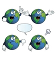 Angry Earth globe set vector image vector image