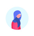 arab woman profile isolated avatar female vector image