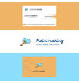 beautiful search on cloud logo and business card vector image