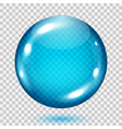 Big transparent light blue sphere vector image vector image