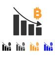 bitcoin recession bar chart icon vector image vector image