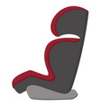 Black and red baby car seat side view isolated on