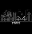 boston city silhouette skyline usa - boston city vector image vector image