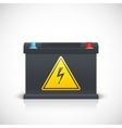 Car battery front view vector image vector image