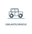carautovehicle line icon carauto vector image