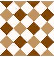 Chocolate Coffee Brown White Diamond Chessboard vector image vector image