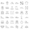 clothes icons set outline style vector image vector image