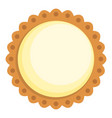 cocoa biscuit icon flat style vector image vector image
