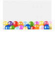 colorful balloons border with transparent vector image vector image