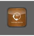 Customer service wood application icons vector image