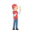 cute boy holding sparkler child celebrating vector image vector image