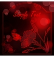 Deep red flare lights background with pinks vector image vector image
