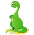 dinosaur theme image 2 vector image vector image