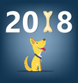 dog symbol 2018 new year banner concept cartoon vector image