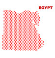 egypt map - mosaic of love hearts vector image vector image