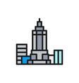 empire state building usa landmark flat vector image