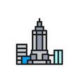 empire state building usa landmark flat vector image vector image