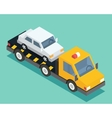Evacuation isometric car road assistance service vector image vector image
