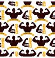 fitness emblem design seamless pattern gym sport vector image vector image