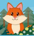 fox cute animals cartoons vector image