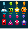 Fun Party Shapes vector image vector image